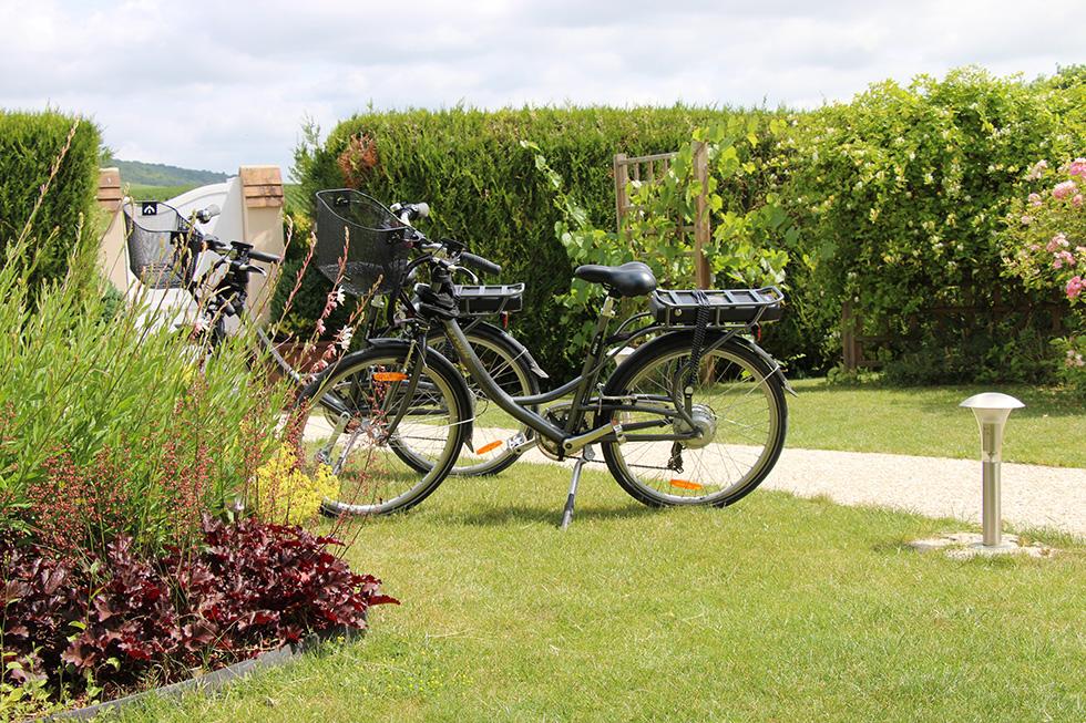location de vélos électriques, visiter la Champagne à vélo